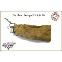 Sacchetto Porta Pallini 6 mm Soft Air Guerra Simulata Sabbia Tan Art.JQ-01T