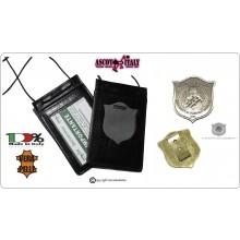 Porta Placca Portaplacca da Collo Guardie Giurate Incaricate di Pubblico Sevizio GPG IPS Pantera Ascot Italia Art. 602GPG