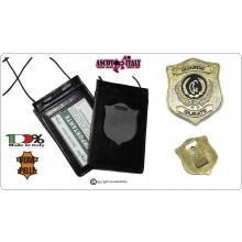 Porta Placca Portaplacca da Collo Guardie Giurate + Placca Vega CL110  Art.602-CL110