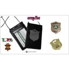 Porta Placca Portaplacca da Collo Protezione Civile + Placca Vega CL115  Art.602-CL115