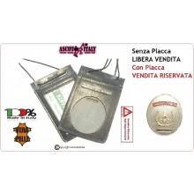 Porta Placca Portaplacca da Collo vigili del Fuoco VVFF Possibilità di Inserire la Placca -- VENDITA RISERVATA SOLO CON PLACCA Art.602-VVFF