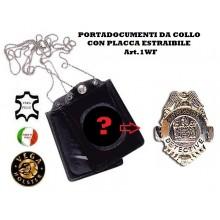 Portatessera e Portaplacca da Collo Private Dectective  Vega Holster Art.1WF81