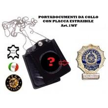 Portatessera e Portaplacca da Collo Investigatore Privato Vega Holster Art.1WF76