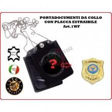 Portatessera e Portaplacca da Collo A.E.O.P. Ass. Europea Operatori di Polizia Nuovo Art.1WF124