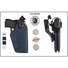 Fondina in Cordura con Laccio Girevole Nera Blu Bianca Vega Holster Italia Vigilanza Polizia Locale Carabinieri Art.PR2