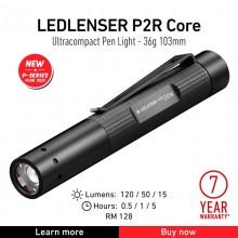 Torcia Tattica Professionale Manuale 120 lumen P2R Core Led Lenser® Polizia Carabinieri Guardie Giurate GPGIPS Art. 502176