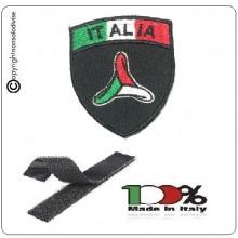 Patch Scudetto Ricamo a Macchina Con Velcro Italia + Logo Protezione Civile Nazionale Volonatria  Art.NSD-IT-PC