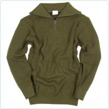 Pullover Maglione Verde OD Alpino Cerniera sul Collo  Fostex Art.1313210