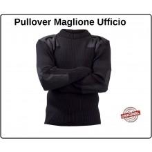 Pullover Maglione Modello Ufficio Nero Sicurezza con Toppe e Spalline Girocollo Fostex Art.131345