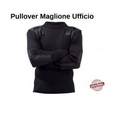 Pullover Maglione Girocollo Modello Ufficio Colore Blu Notte con Spalline Fostex Art.1313110