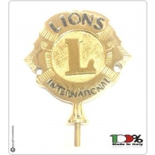 Lancia Puntale Ottone per Aste Portabandiera Lions International Art.LIONS