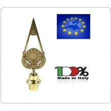 Lancia Puntale Ottone per Aste Portabandiera Europa Unione Europea Art.NO-DRK-97