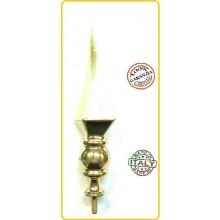 Lancia Puntale Ottone per Aste Portabandiera Generico Rombo Art.BRK-GEN-R