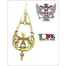 Lancia Puntale Ottone per Aste Portabandiera Croce di Malta Ordine di Malta Cavalieri Art.BRK-MALTA