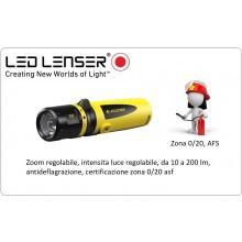 Torcia Professionale Anti deflagrazione Vigili del Fuoco  EX7 EX-proof Zona 0/20, AFS 200lm LED LENSER NEW Art.EX7