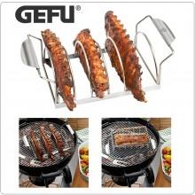 Accessorio per Rib Barbecue Acciaio Professionale Inox 40 x 18,2 x 11,1 cm Spare rib rack BBQ Gefu Art. 89248