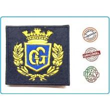 Ricamo da Berretto Ricamato a Macchina Guardie Giurate Oro Bollo Blu Quadrato Art.NSD-FREG-GGRM2