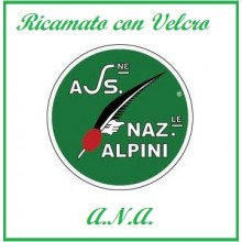 Patch Toppa Ricamata A.N.A. Associazione Nazionale Alpini cm 5.00 Art.ANA-1