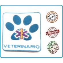 Patch Scudetto Ricamo a Macchina Con Velcro Medico Infermiere Soccorritore Veterinario Mod 2 Art.NSD-PV2