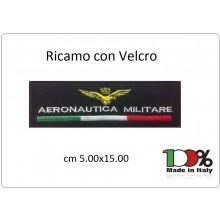 Patch Toppa Ricamo Con Velcro cm 5,00x15,00 Aeronautica Militare Art.15-5-AM