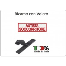 Patch Ricamata Autista Soccorritore con Velcro per Tuta Operative Soccorritori Art.NSD-AS-R
