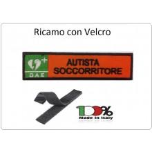 Patch Toppa Ricamata Arancio D.A.E. + AUTISTA SOCCORRITORE Art.DAE-4