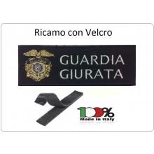 Patch Toppa Ricamata Con Velcro cm 5,00x10,00 GUARDIA GIURATA NEW Art.10-5-GG