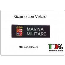 Patch Toppa Ricamata Con Velcro cm 5,00x15,00 Marina Militare Art.15-5-MM