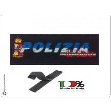 Patch Toppa Ricamo Con Velcro cm 5,00x11,00 POLIZIA DI STATO  NEW Art.PS-TOP