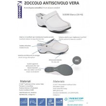 Zoccolo Antiscivolo Vera Isacco Novità Infermiera Cucina Art.SUE080