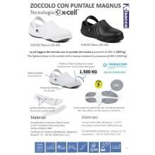 Zoccolo Antiscivolo con Puntale Magnus Isacco Novità Infermiera Cucina Bianco o Nero Art.SUE