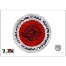 Adesivo 3M Per Paletta Rosso  Guardie Particolari Giurate Incaricato di Pubblico Servizio GPG IPS 1931 AQUILA NEW  Art.R-1NEW