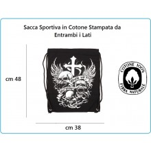 Zaino Sacca Sportiva con Stampa God is my judge Art.351650-3006