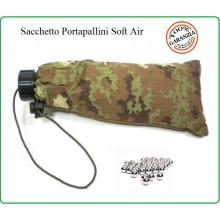 Sacchetto Porta Pallini 6 mm Soft Air Guerra Simulata Vegetato Art.JQ-01