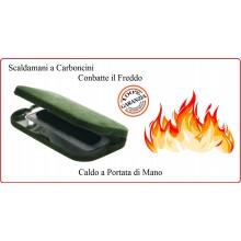 Scaldamani Scalda Mani a Carboncino con Custodia Climi Freddi Caccia Pesca Sci Art.24713