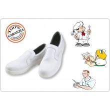 Scarpa Professionale Bianca Senza Lacci Chef Cuoco Cucina Medicale Infermiere Certificata Art. 9000001