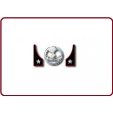Mostrine Alamari Giacca o Camicia Esercito Italiano Genio Art.NSD-A-G