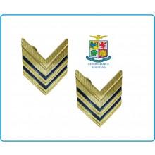 Coppia di Gradi Metallo Nuovo Modello Aeronautica Sergente Maggiore Art.G5-ARS