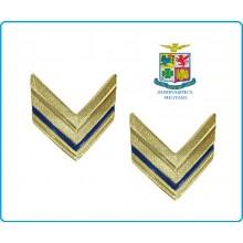 Coppia di Gradi Metallo Nuovo Modello Aeronautica Sergente Art.G4-ARS
