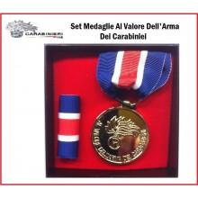 Set Medaglia al valore dell'Arma dei Carabinieri Oro  Art.NSD-CCO