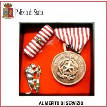 Set Medaglie Al Merito di Servizio Polizia di Stato Bronzo Art.Fav-Set10