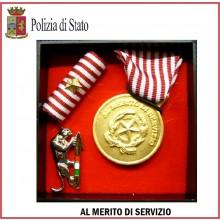 Set Medaglie Al Merito di Servizio Polizia di Stato Oro Art.Fav-Set11