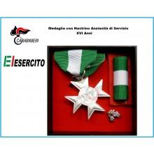 Set Medaglie Anzianità di Servizio Carabinieri - Esercito Italiano Argento XVI anni  Art.Fav-Set15