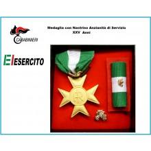 Set Medaglie Anzianità di Servizio Carabinieri - Esercito Italiano Oro XXV anni  Art.Fav-Set16