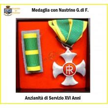 Set Medaglie Anzianità di Servizio Guardia di Finanza Argento XVI anni  Art.FAV-SET17