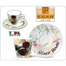 Mug Tazza Cappuccino Mickey Mouse in Porcellana Decorata, by EGAN DISNEY Art.PWM12/2T