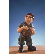 Statuina in Resina Dipinta a Mano Esercito Italiano Paracadutista Folgore Parà Art.Seu006 07041