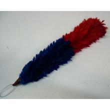 Piumetto Bicolore Rosso Blu per Berretto Bande Musicali Art.NSD.pium