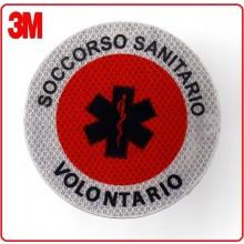 Adesivo 3M Per Paletta Rosso Soccorso Sanitario Volontario Art.PALSSVO