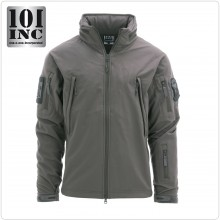 Giacca Giubbino Impermeabile Soft Shell Jack Tactical Waterprof Softshell PCU Grigia 101 INC NEW Vigilanza G.DI F. Guardia Caccia Zoofila Art.129840-G